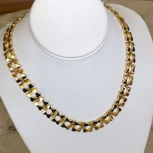"""Gold Tone Choker Necklace 18"""""""